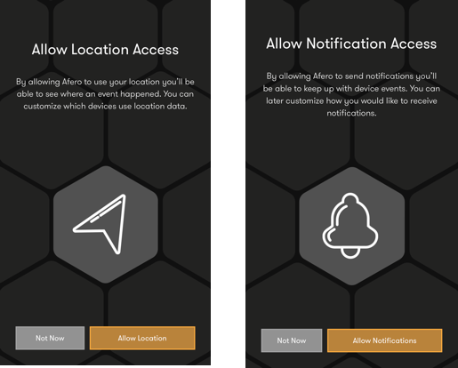 Allow Location and Notifications