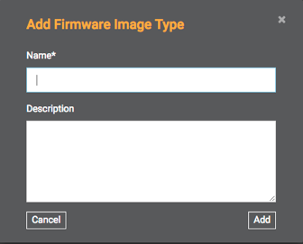 Add Firmware Image Type