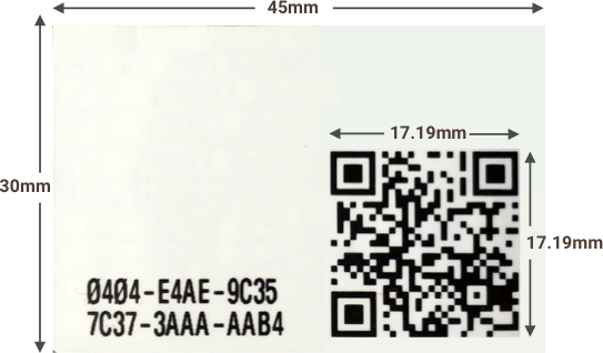 Example of Large QR Code Label