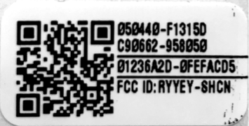 Example of Small QR Code Label